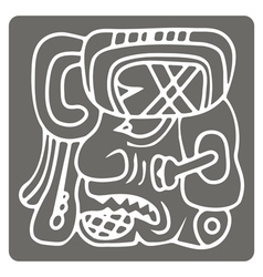 icon with glyphs of the Maya Night Lord vector image