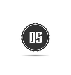 initial letter ds logo template design vector image