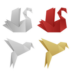 japanese origami birds vector image