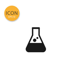 laboratory chemical glass icon isolated flat style vector image