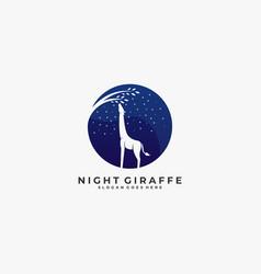 logo giraffe negative space style vector image