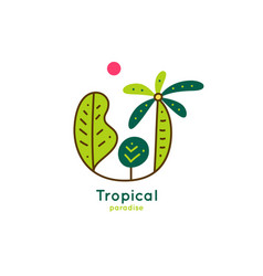 Logo tropics vector
