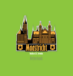 maastricht city skyline netherlands city vector image