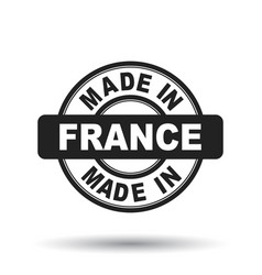 made in france black stamp on white background vector image