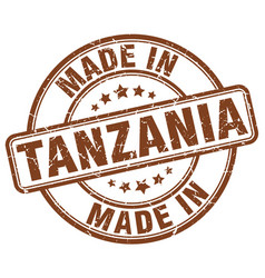 Made in tanzania brown grunge round stamp vector