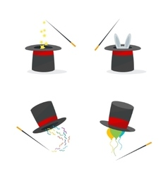 Magic Hat Set vector image