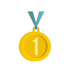 Medal for first place icon flat style vector