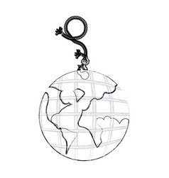 Monochrome contour hand drawing of hanging rope vector