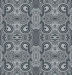 monochrome hand drawn seamless zentangle pattern vector image