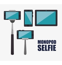 monopod photography selfie style isolated vector image