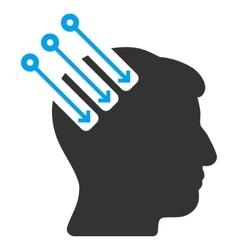 Neuro Interface Flat Icon vector image vector image
