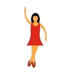 Nice dance flat icon vector