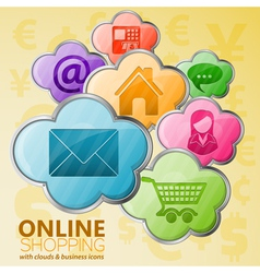 Online Shopping Cloud Computing Concept vector image