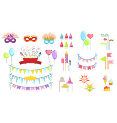 Party decorations set vector