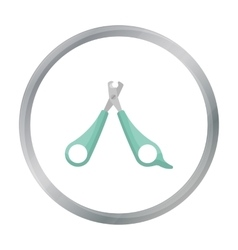 Pet nail clippers icon in cartoon style isolated vector