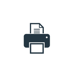 printer icon simple element for web vector image