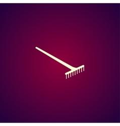 Rake Icon concept for design vector image