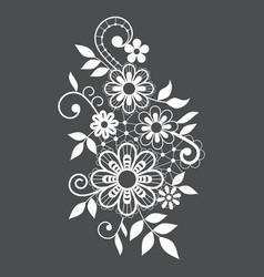 retro lace single pattern ornamental design vector image