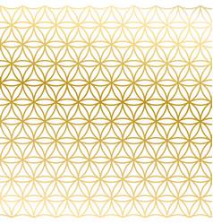 sacred geometry golden gradient flower of life vector image