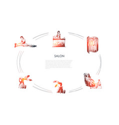 salon - massage back and foot vector image