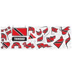 set national flag trinidad and vector image