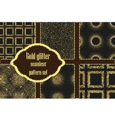 Set of beautiful golden glitter patterns vector image