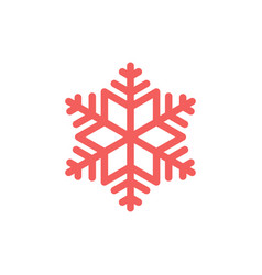 simple snowflake icon graphic isolated element on vector image
