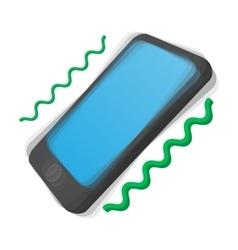 Smartphone vibrating cartoon icon vector