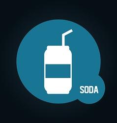 Soda icon vector