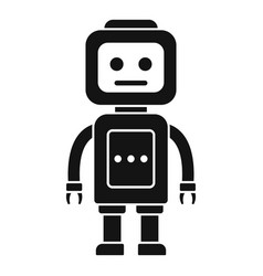 Steel robot icon simple style vector