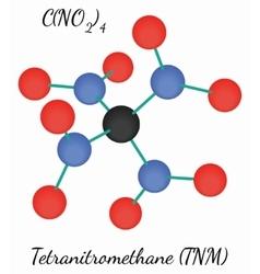 Tetranitromethane CN4O8 molecule vector image