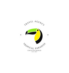 Travel agency logo template vector