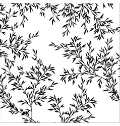 tree branches with leaves vector image