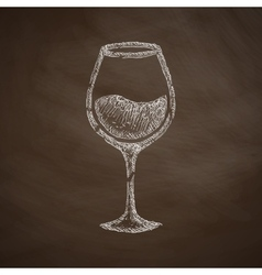 Wineglass icon vector