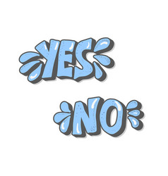 yes and no hand lettering vector image