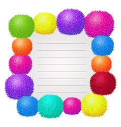 Border design with colorful ball vector