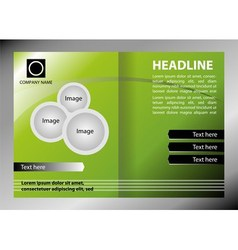 Green brochure template vector image vector image