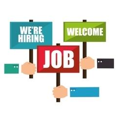 Recruitment process concept icon vector
