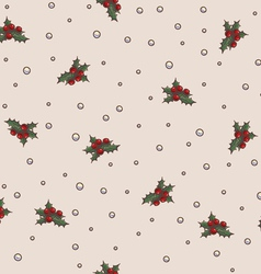 Seamless pattern Christmas and New Year theme vector image