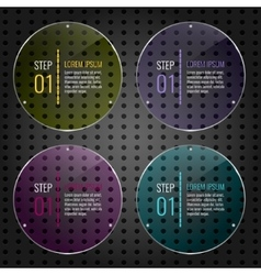Set of colored glass panels vector image vector image