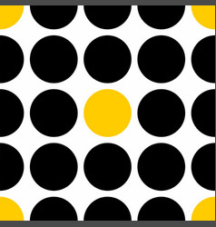 tile pattern with black and yellow polka dots vector image vector image