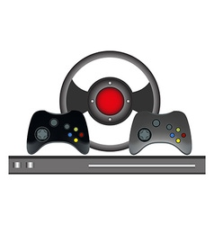 Video games controller set vector image vector image
