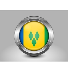 Flag Saint Vincent and the Grenadines Round Icon vector image vector image