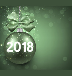 Green 2018 new year background vector