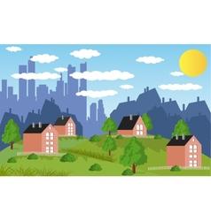 Suburban houses vector image