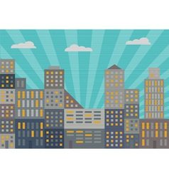 City in retro style vector image vector image