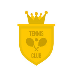 coat of arms of tennis club icon flat style vector image