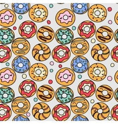 Donuts pattern vector image vector image