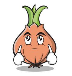 eye roll onion character cartoon vector image vector image