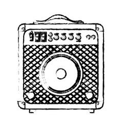 speaker sound device icon vector image vector image